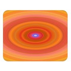 Ellipse Background Orange Oval Double Sided Flano Blanket (large)