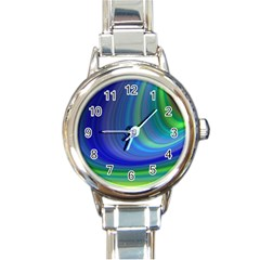 Space Design Abstract Sky Storm Round Italian Charm Watch