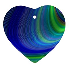 Space Design Abstract Sky Storm Ornament (heart)