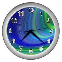 Space Design Abstract Sky Storm Wall Clocks (silver)