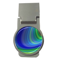 Space Design Abstract Sky Storm Money Clips (round)