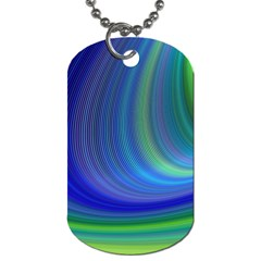 Space Design Abstract Sky Storm Dog Tag (one Side)