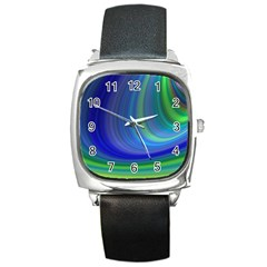 Space Design Abstract Sky Storm Square Metal Watch