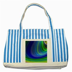Space Design Abstract Sky Storm Striped Blue Tote Bag