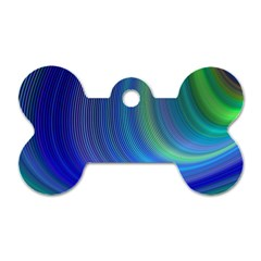 Space Design Abstract Sky Storm Dog Tag Bone (one Side)