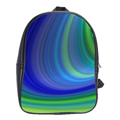 Space Design Abstract Sky Storm School Bag (large)