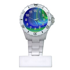 Space Design Abstract Sky Storm Plastic Nurses Watch