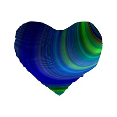 Space Design Abstract Sky Storm Standard 16  Premium Flano Heart Shape Cushions