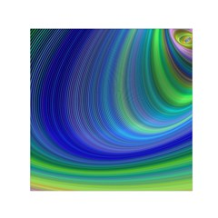 Space Design Abstract Sky Storm Small Satin Scarf (square)