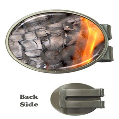 Fireplace Flame Burn Firewood Money Clips (oval)
