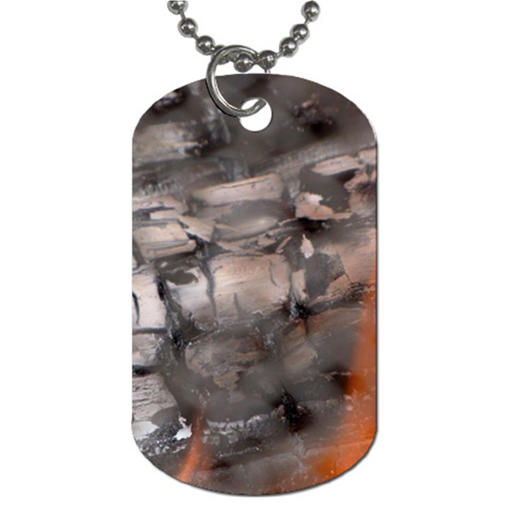 Fireplace Flame Burn Firewood Dog Tag (Two Sides)