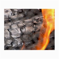 Fireplace Flame Burn Firewood Small Glasses Cloth (2 Side)
