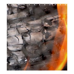 Fireplace Flame Burn Firewood Shower Curtain 66  X 72  (large)
