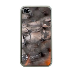 Fireplace Flame Burn Firewood Apple Iphone 4 Case (clear)