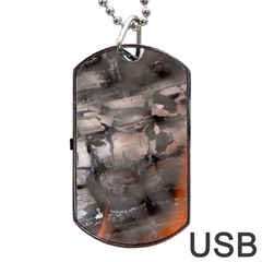 Fireplace Flame Burn Firewood Dog Tag Usb Flash (one Side)