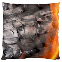 Fireplace Flame Burn Firewood Large Cushion Case (one Side)