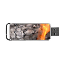 Fireplace Flame Burn Firewood Portable Usb Flash (two Sides)