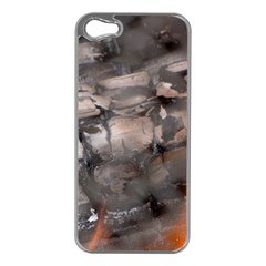 Fireplace Flame Burn Firewood Apple Iphone 5 Case (silver)
