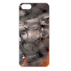 Fireplace Flame Burn Firewood Apple Iphone 5 Seamless Case (white)