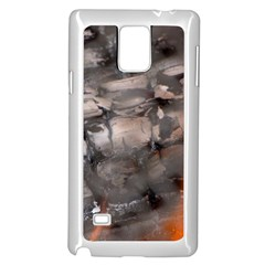 Fireplace Flame Burn Firewood Samsung Galaxy Note 4 Case (white)