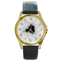 Almond Bread Quantity Apple Males Round Gold Metal Watch