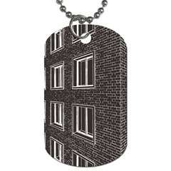 Graphics House Brick Brick Wall Dog Tag (one Side)