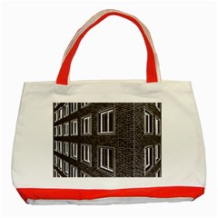 Graphics House Brick Brick Wall Classic Tote Bag (red)