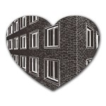 Graphics House Brick Brick Wall Heart Mousepads Front