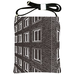 Graphics House Brick Brick Wall Shoulder Sling Bags
