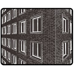Graphics House Brick Brick Wall Fleece Blanket (medium)