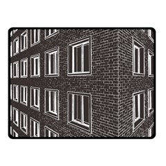 Graphics House Brick Brick Wall Double Sided Fleece Blanket (small)