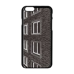 Graphics House Brick Brick Wall Apple Iphone 6/6s Black Enamel Case