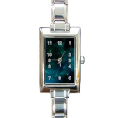 Space All Universe Cosmos Galaxy Rectangle Italian Charm Watch