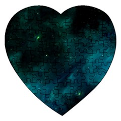 Space All Universe Cosmos Galaxy Jigsaw Puzzle (heart)