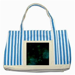 Space All Universe Cosmos Galaxy Striped Blue Tote Bag