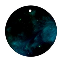Space All Universe Cosmos Galaxy Round Ornament (two Sides)