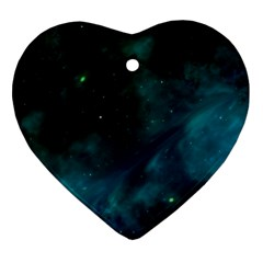 Space All Universe Cosmos Galaxy Heart Ornament (two Sides)