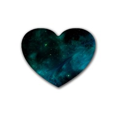 Space All Universe Cosmos Galaxy Heart Coaster (4 Pack)