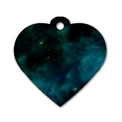 Space All Universe Cosmos Galaxy Dog Tag Heart (one Side)