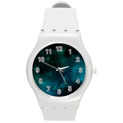 Space All Universe Cosmos Galaxy Round Plastic Sport Watch (m)