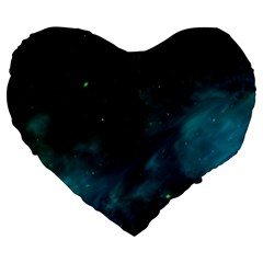 Space All Universe Cosmos Galaxy Large 19  Premium Heart Shape Cushions