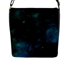 Space All Universe Cosmos Galaxy Flap Messenger Bag (l)