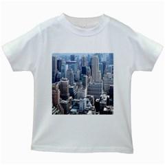 Manhattan New York City Kids White T Shirts