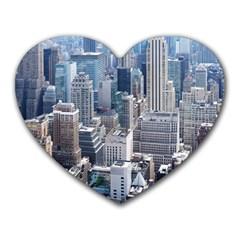 Manhattan New York City Heart Mousepads