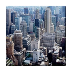 Manhattan New York City Face Towel