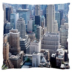Manhattan New York City Large Cushion Case (two Sides)