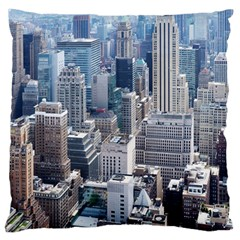 Manhattan New York City Large Flano Cushion Case (two Sides)