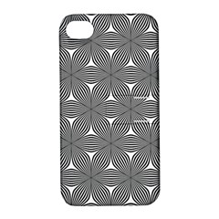 Seamless Weave Ribbon Hexagonal Apple Iphone 4/4s Hardshell Case With Stand