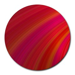 Abstract Red Background Fractal Round Mousepads