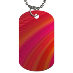 Abstract Red Background Fractal Dog Tag (one Side)